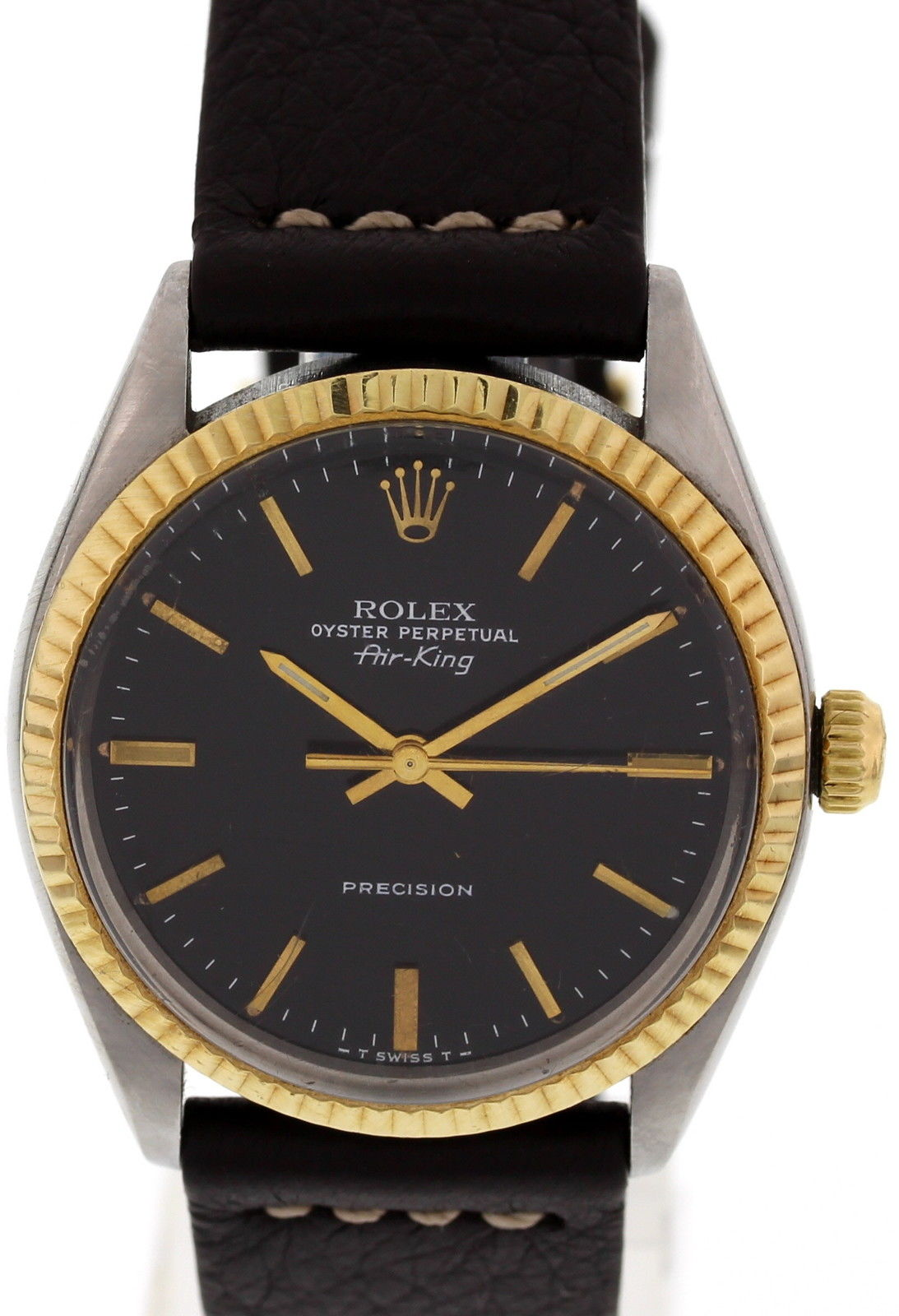 """Image of """"Rolex Air King 5500 Oyster Perpetual Stainless Steel 18K Yellow Gold"""""""