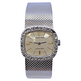 Audemars Piguet 18K White Gold White Dial Diamond Bezel Manual Womens Watch