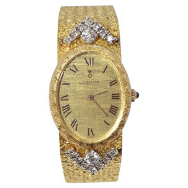 Corum 18K Yellow Gold and Diamond Womens Watch