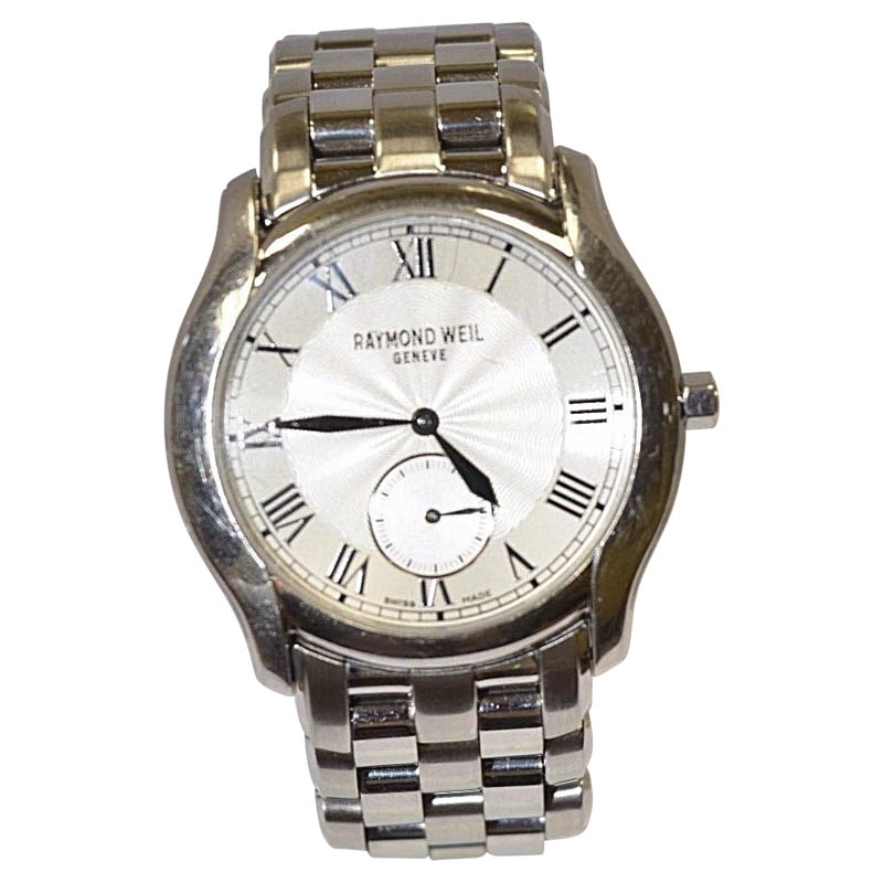 """Image of """"Raymond Weil Tosca 9864 Stainless Steel Silver Dial Quartz 30mm Mens"""""""