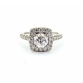 14k White Gold Round 1.01Ct Diamond Engagement Ring