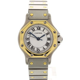 Cartier Santos 18K Yellow Gold & Stainless Steel 24mm Watch