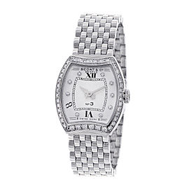 Bedat & Co. No. 3 304.031 Diamond Dial and Bezel Stainless Steel 25mm Womens Watch