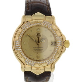 Tag Heuer 6000 Series WH524 18K Yellow Gold & Diamond Mens Watch