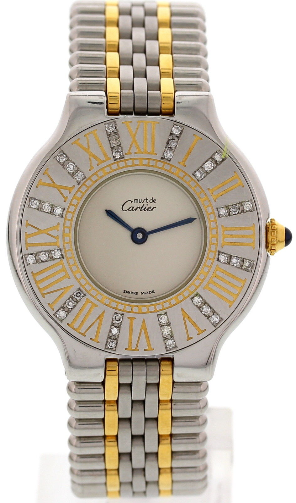 "Image of ""Cartier 123.000P Must De 21 18K Yellow Gold & Stainless Steel &"""