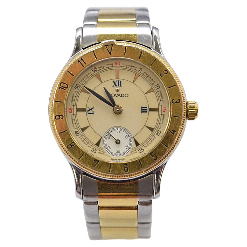 "Image of ""Movado 81-09-811 Stainless Steel & Gold Plated 27.14mm Womens Vintage"""