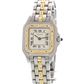 Cartier Panthere 166921 Stainless Steel & 18K Yellow Gold & Diamond Womens Watch