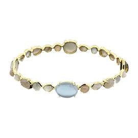 Ippolita Rock Candy 18K Yellow Gold Multi Color Gemstone Bangle Bracelet