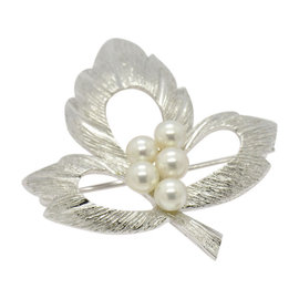 Mikimoto 925 Sterling Silver Pearl Pin Brooch