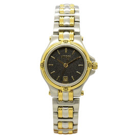 Gucci 9040L Two-Tone Black Dial Quartz 26mm Womens Watch