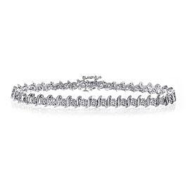 14K White Gold & 3.00ct Diamond Tennis Bracelet