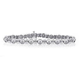 14K White Gold & 1.20ct Diamond Tennis Bracelet