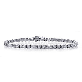 14K White Gold & 1.50ct Diamond Tennis Bracelet