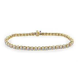 14K Yellow Gold & 6.50ct Diamond Tennis Bracelet