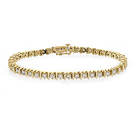 14K Yellow Gold & 3.50ct Diamond Tennis Bracelet