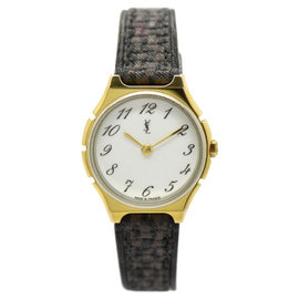 Yves Saint Laurent Stainless Steel & Gold Plated 24.5mm Womens Watch
