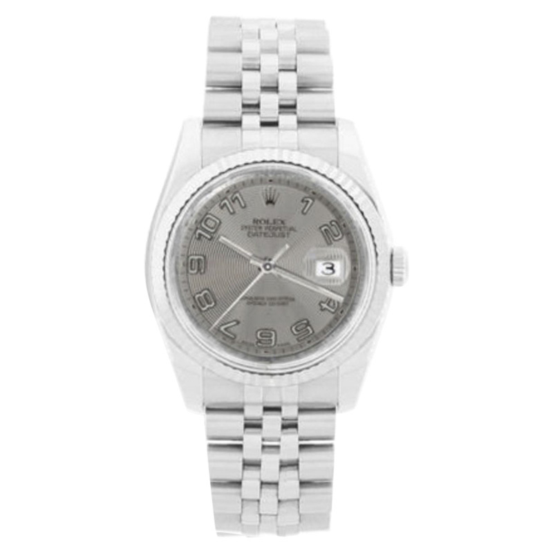 """Image of """"Rolex Datejust New Style 116234 Steel Silver Arabic Dial 18K Gold"""""""
