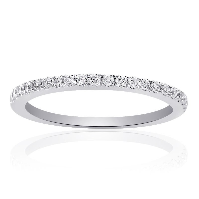 "Image of ""White White Gold 0.25ct Diamond Womens Wedding Ring Size 5.75"""