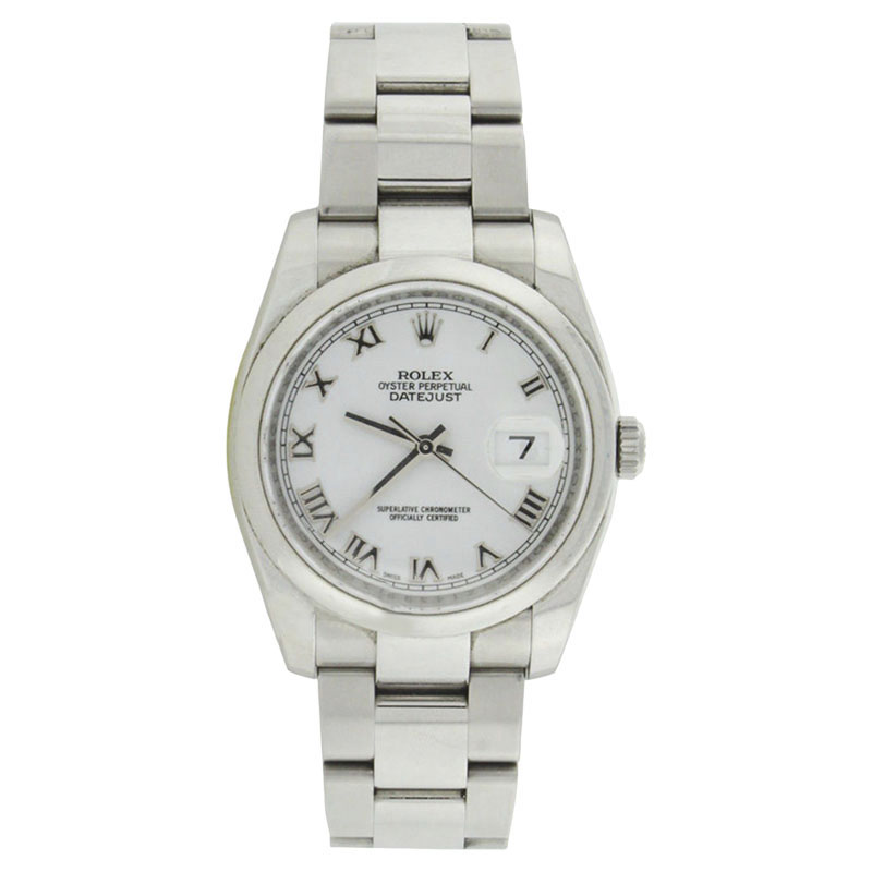 """Image of """"Rolex Datejust 116200 Oyster Stainless Steel White Roman Dial"""""""