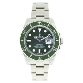 Rolex Submariner Hulk 116610LV Stainless Steel Green Dial Ceramic Bezel 40mm Mens Watch
