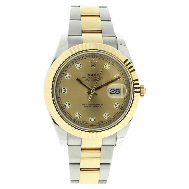 """Image of """"Rolex Datejust 116333 Oyster Stainless Steel & 18K Gold Champagne"""""""