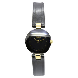 Rado 204.4079.4N Stainless Steel & Leather With Black Dial 20.5mm Womens Watch