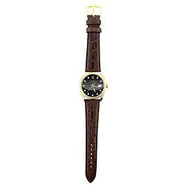 Rolex Datejust 16013 Crocodile Black Diamond Dial 36mm Watch