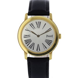 Piaget Altiplano 50920 18K Yellow Gold & Leather Quartz 34mm Womens Watch