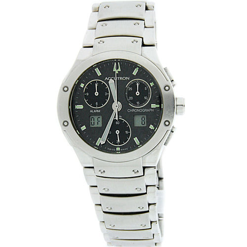 "Image of ""Bulova Accutron Breckenridge 26B29 Chronograph Stainless Steel 37mm"""