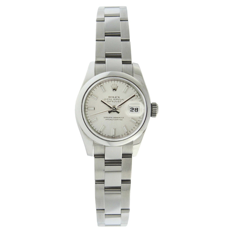 "Image of ""Rolex Datejust 179160 Oyster Stainless Steel New Style Silver Stick"""
