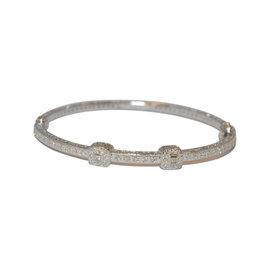 Charriol 18K White Gold 0.40cts Diamond Bangle Bracelet