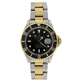 Rolex Submariner 16613 Stainless Steel and 18K Yellow Gold Black Dial Black and Bezel 40mm Watch