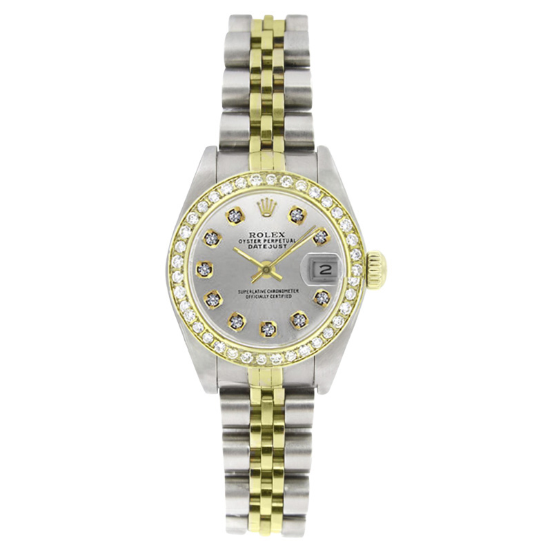 """Image of """"Rolex Datejust 6917 Stainless Steel and 18K Yellow Gold Silver Diamond"""""""
