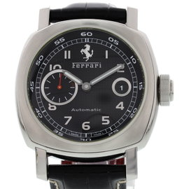 Panerai Ferrari FF6654 Stainless Steel & Leather Black Dial Automatic 46mm Mens Watch