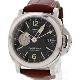 Panerai Luminor GMT PAM88/OP6761 Stainless Steel & Leather 44mm Mens Watch