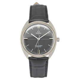 Omega Seamaster Stainless Steel / Leather 35mm Mens Watch