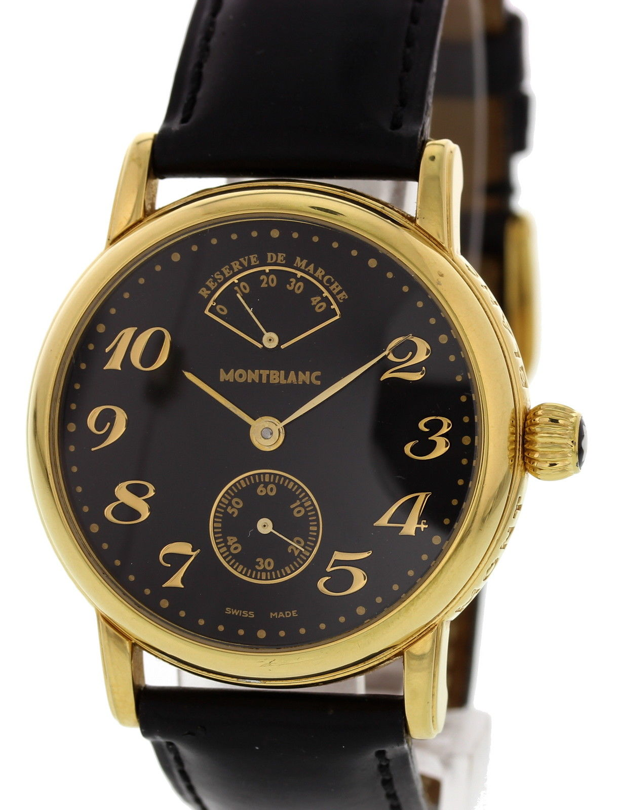 "Image of ""Montblanc Meisterstuck 7003 Gold Tone Stainless Steel & Leather Manual"""