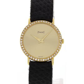 Piaget Altiplano 22335 18K Yellow Gold Diamond Bezel 23mm Watch
