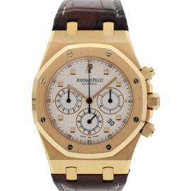 Audemars Piguet Royal Oak 26320OR.00.D002CR.01 18K Rose Gold & Leather Chronograph 41mm Mens Watch