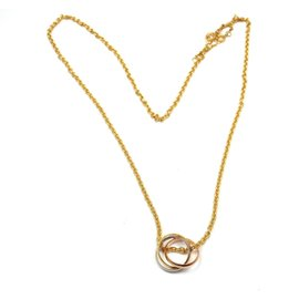 Cartier 18K Multi Color Gold Trinity Pendant Necklace