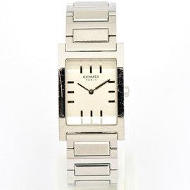 Hermes Tandem TA1.710 Stainless Steel Silver Dial Quartz 25.5 Men's Watch