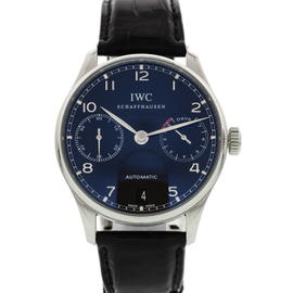 IWC Portuguese IW500109 Stainless Steel & Leather Automatic 42.3mm Mens Watch