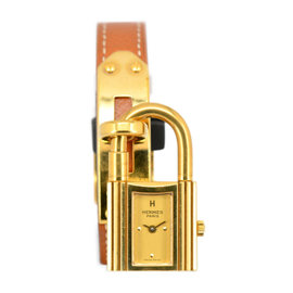 Hermes Kelly Gold Plated / Leather 20mm Womens Watch