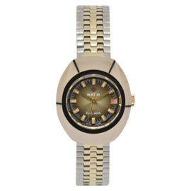Rado Balboa Tungsten Two-Tone Stainless Steel & Gold Plated Automatic 26mm Womens Watch