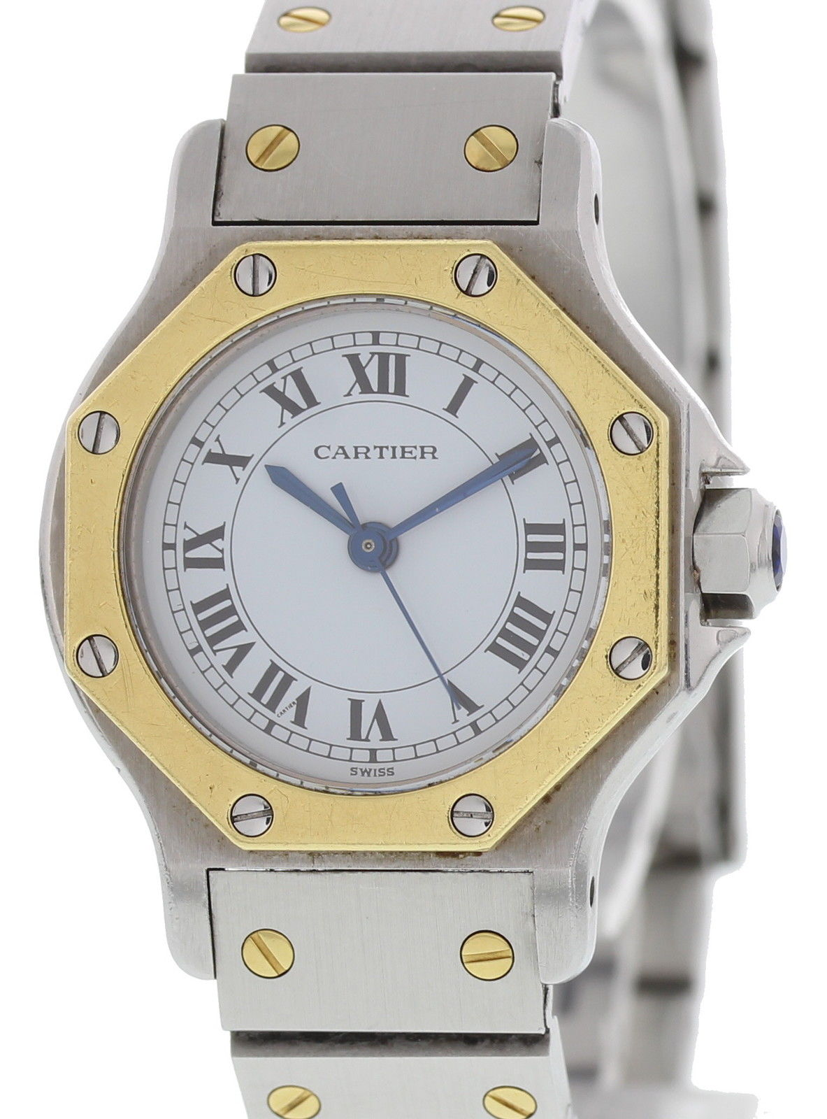 """Image of """"Cartier Santos Octagon Stainless Steel & 18K Yellow Gold Automatic"""""""