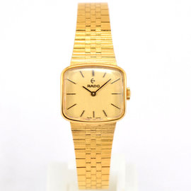 Rado 332.7833.2 Gold Plated Hand-Winding 23mm Womens Watch