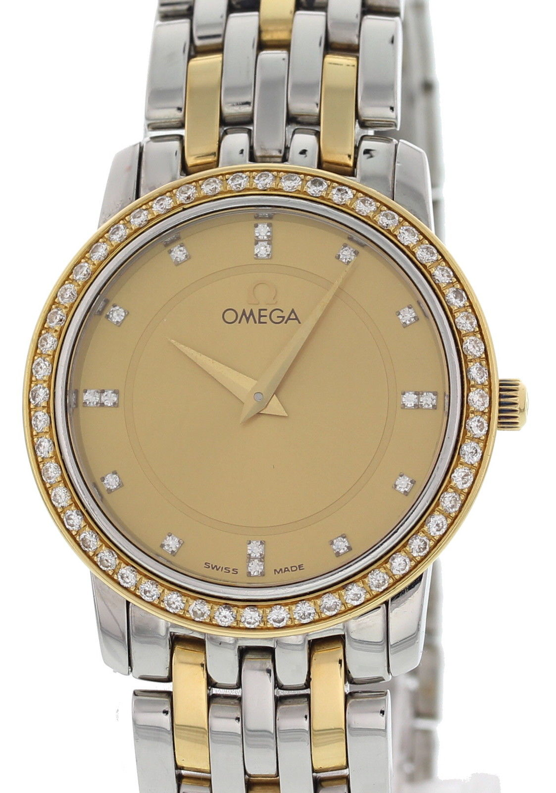 """Image of """"Omega DeVille 6503/833 18K Yellow Gold / Stainless Steel 28mm Womens"""""""