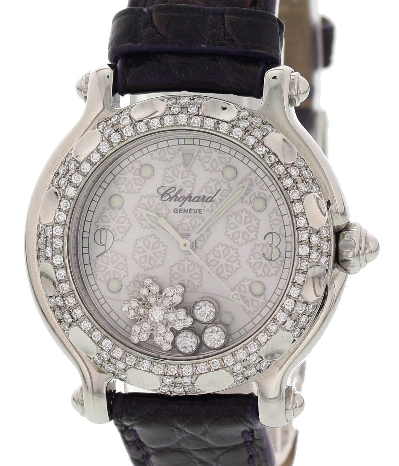 "Image of ""Chopard Happy Sport 27/8949 Stainless Steel / Leather 32mm Womens"""