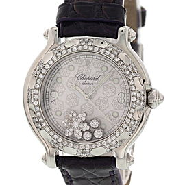 Chopard Happy Sport 27/8949 Stainless Steel / Leather 32mm Womens Watch