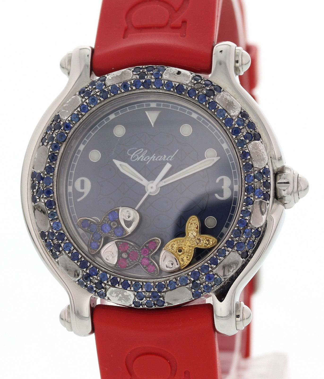 """Image of """"Chopard Happy Sport 27/8921-402 Stainless Steel & Rubber wDiamonds"""""""